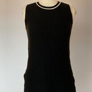 Athleta Sleeveless Knit Ribbed Tunic Top Side Slit